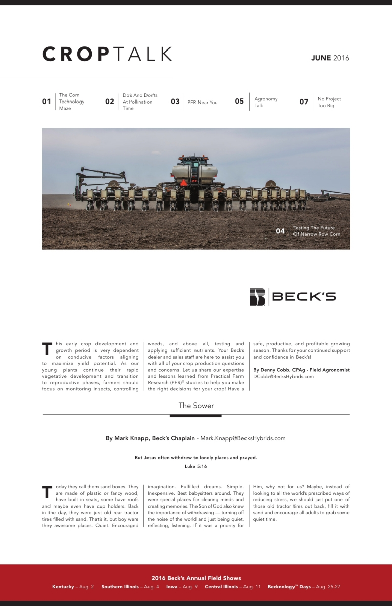 Licensed for use on publications wholly owned by Becks Hybrids 3D ...